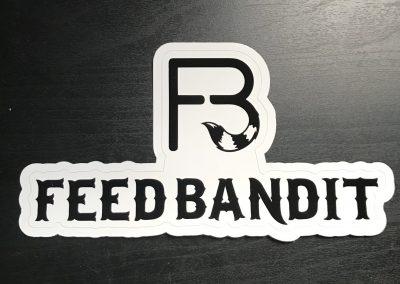 Feed Bandit White Sticker