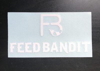 Feed Bandit White Transfer Sticker